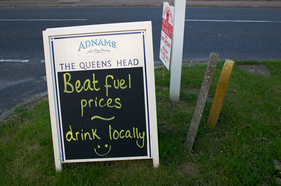 Beat Fuel Prices - Drink Locally, photo by Adam Tinworth