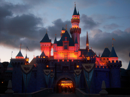 Sleeping Beauty's Castle at twilight by Loren Javier