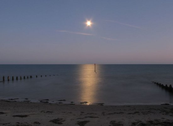 Moonrise over La Manche by Dimitry B