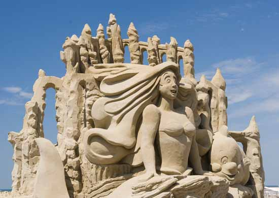 little mermaid sand sculpture