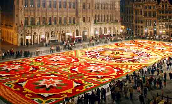 flower carpet_brussels