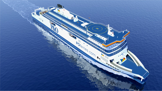 of the hotly anticipated state-of-the-art new ship Spirit of France