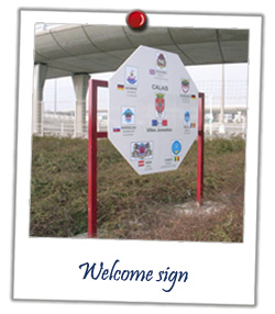 Welcone sign