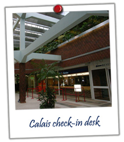 Calais check-in desk