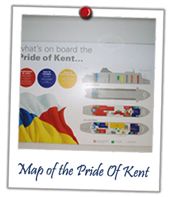Map of the Pride Of Kent